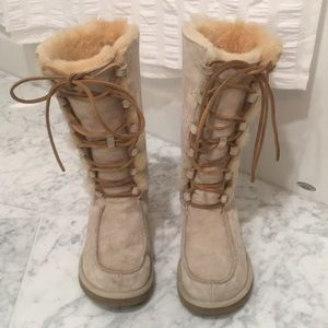 Women's Lace-Up UGGs. Size 8.